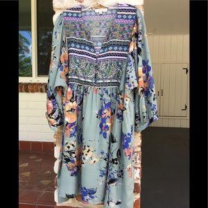 Umgee Boho peasant dress long sleeved Size 2XL
